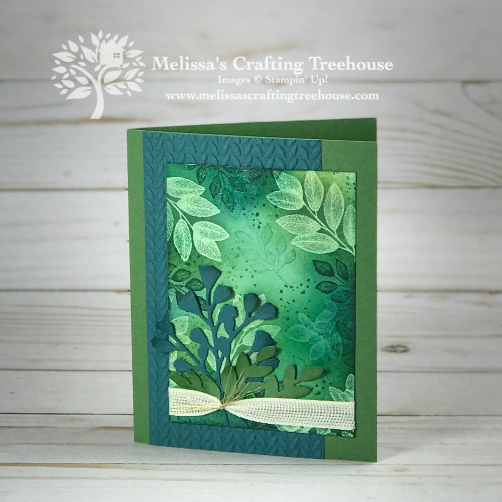 Creating with the Forever Fern Stamp Set using the Emboss Resist Stamping Technique brought this stamp set to life! I'm in love!