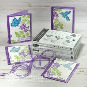 Check out my two-fer pair of projects made with the Stampin' Up! A Touch of Ink Stamp Set! This set is FREE with qualifying orders till 2/28!