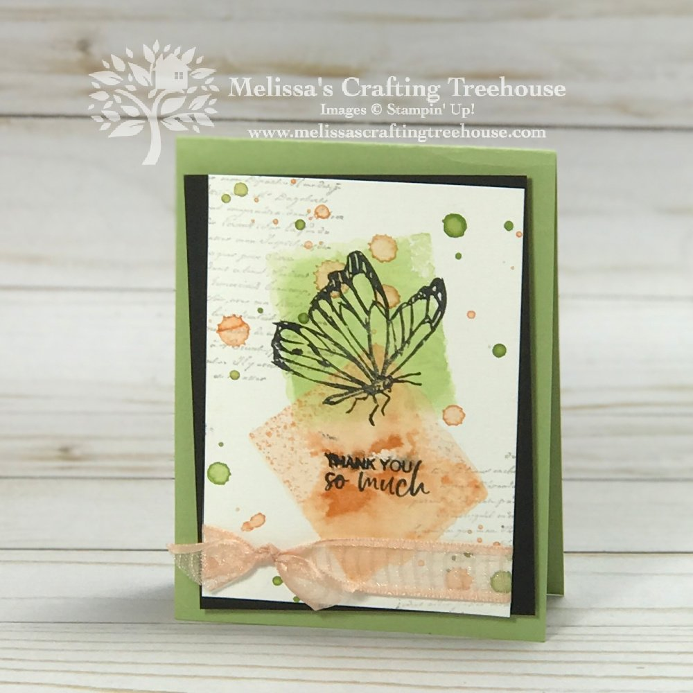 In today's post, I'll be sharing a project made with the Acrylic Block Technique. The featured product is the A Touch of Ink Stamp Set.