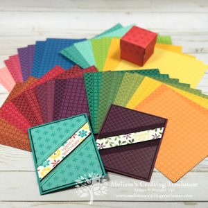 Today's diagonal cut cards are so easy to make that I can see a redo in the other 98 patterns/colors of designer paper I'm featuring today!