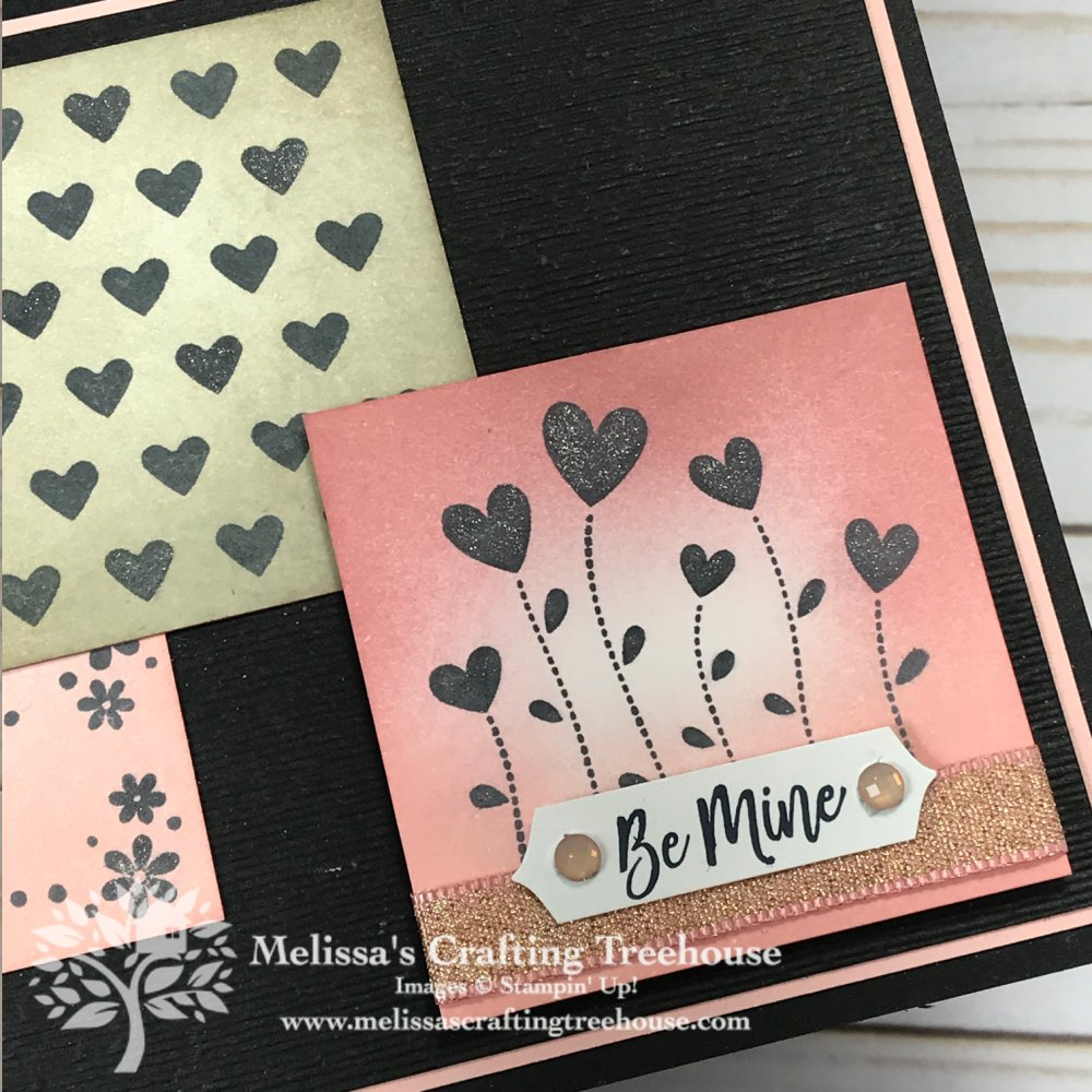 Valentines Day is coming soon and so I just had to play with my Valentine Keepsakes Stamp Set to make this adorable and striking card.