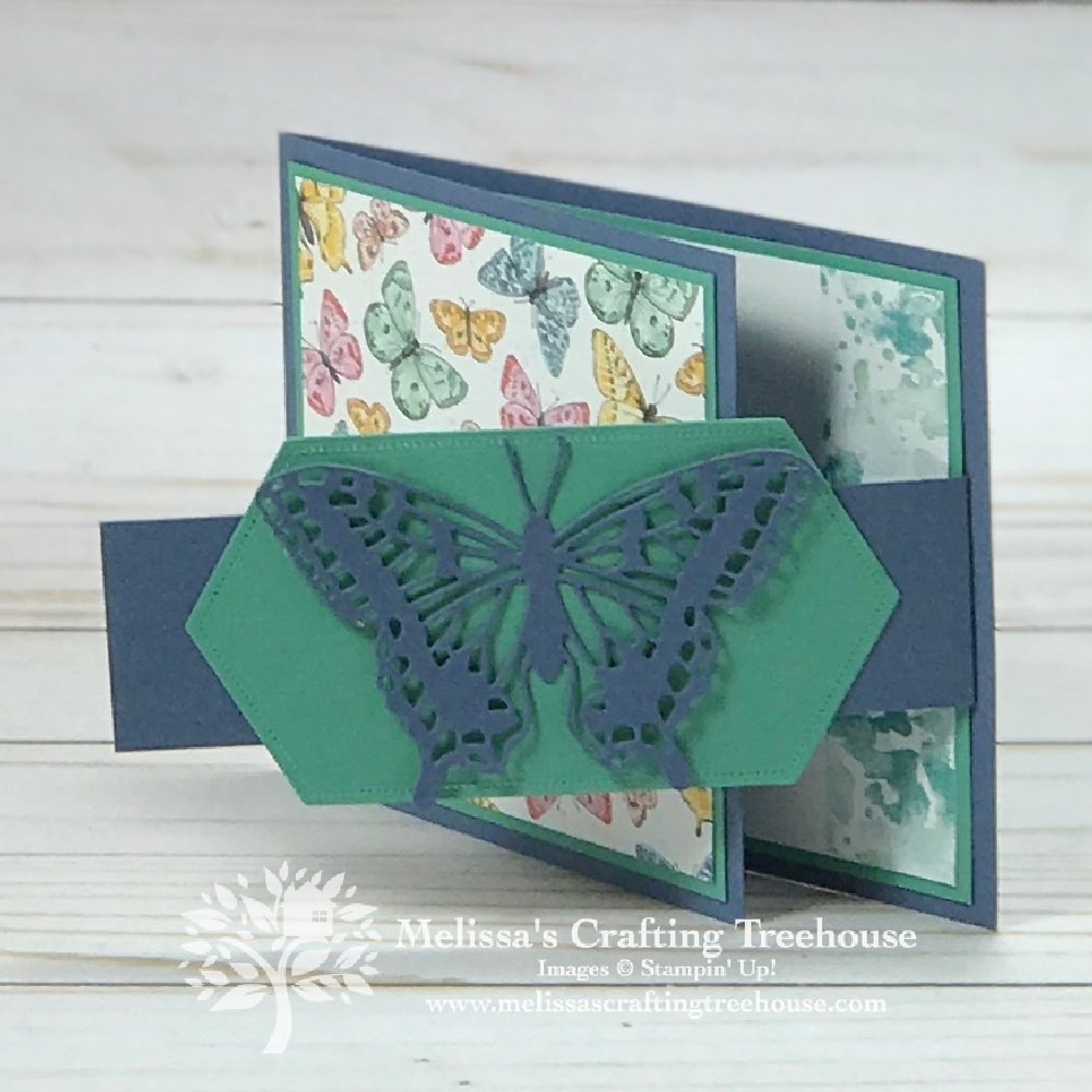 """Simple Fun Fold Cards are one of my favorite card types! Plus, today's card is so easy to """"make your own"""" using your favorite designer paper."""