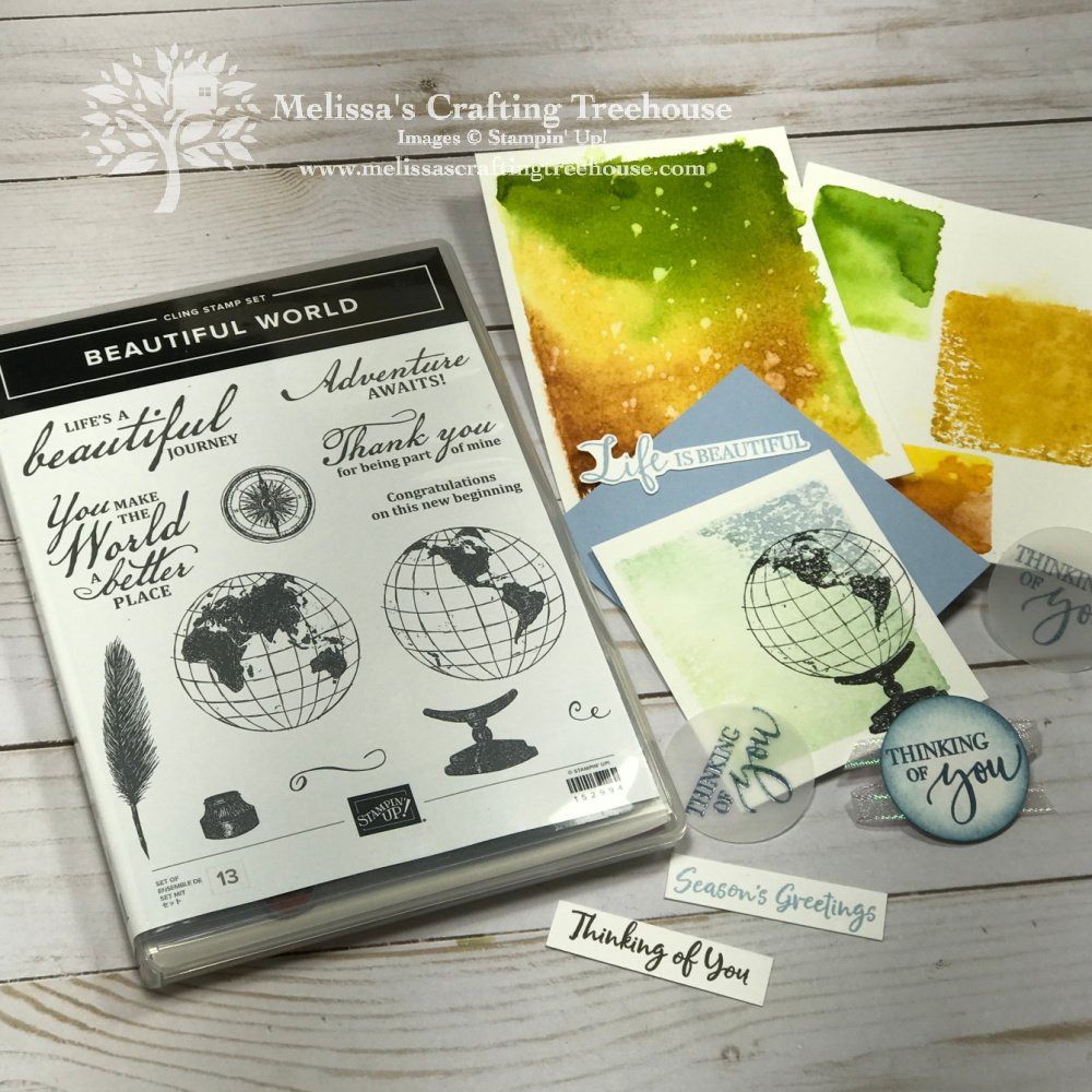 Check out these simple projects for my Card Salad PopUp Party Featuring the retiring Beautiful World Stamp Set! These are so easy to make!