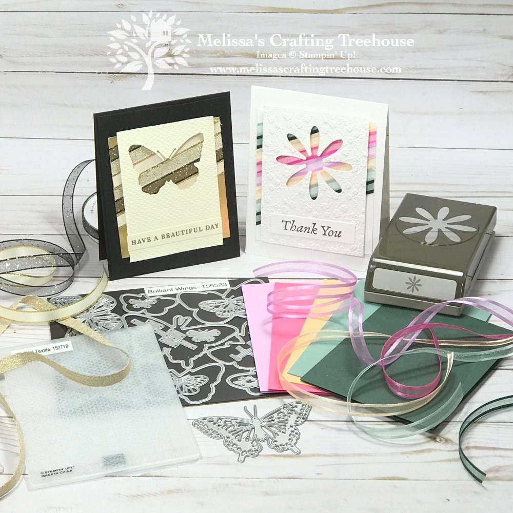 Learn how to make two simple cards using ribbon scraps. My favorite thing about these cards is that the ribbon is the focal element! So fun!