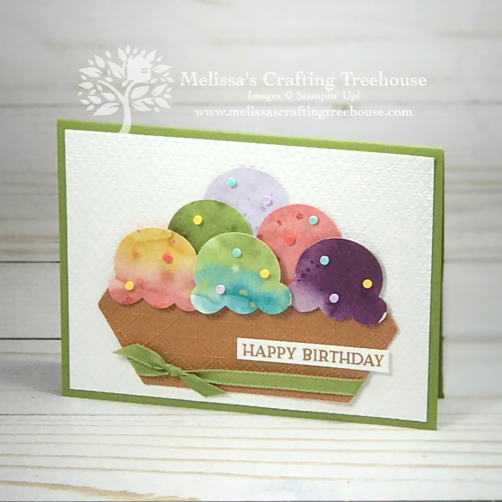 How to make a bowl of sweet ice cream with zero calories. Check out my 3 handmade cards made with all your favorite ice cream flavors!