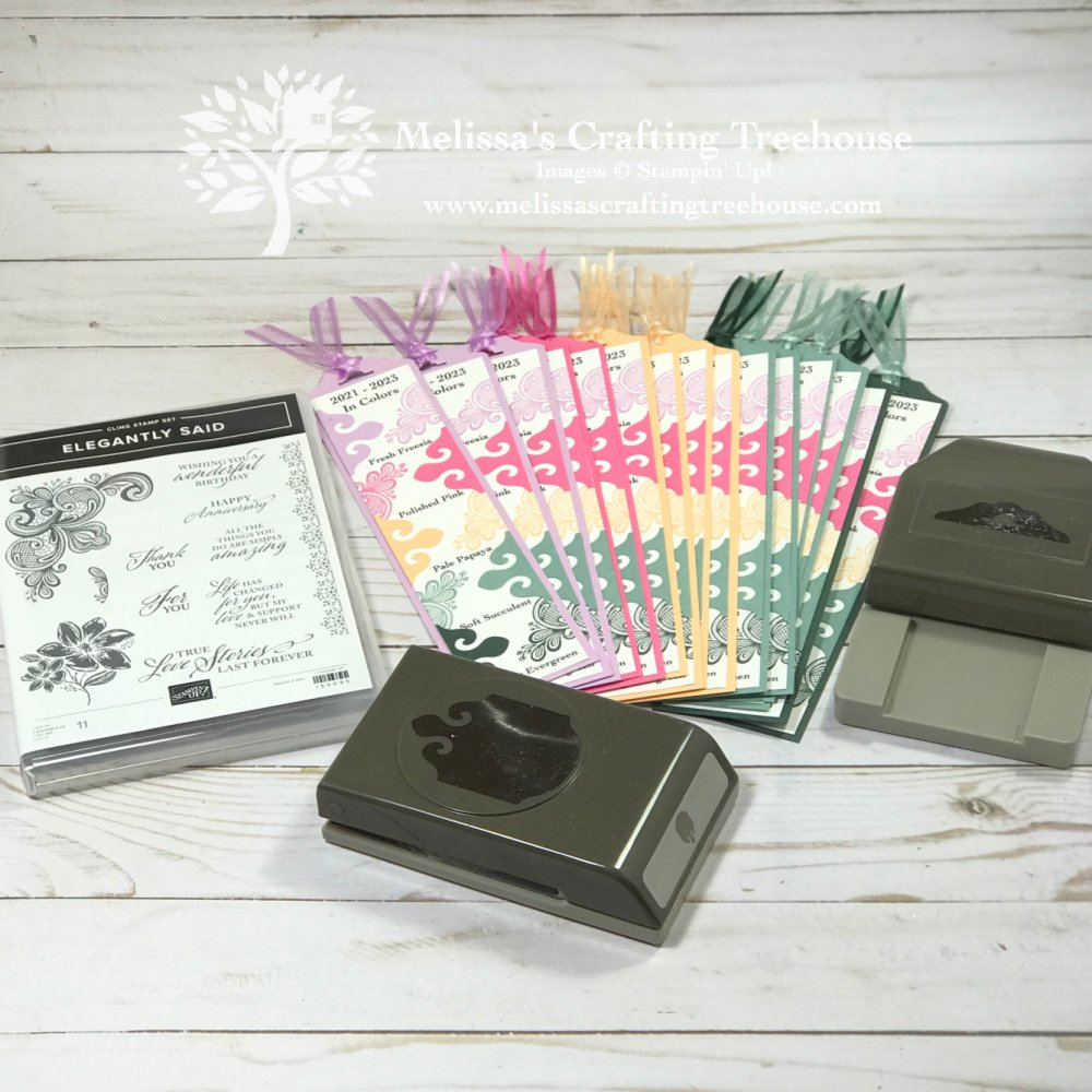 Learn how to make an easy DIY bookmark, using the Stamparatus, and the, 2021-2023 In Colors. Plus, see unique bonus cards made with scraps.