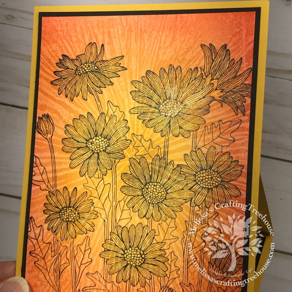 Learn how to make an Easel Card with the Floating & Fluttering Bundle & the Daisy Garden Stamp Set with the Wax Paper Resist Technique.