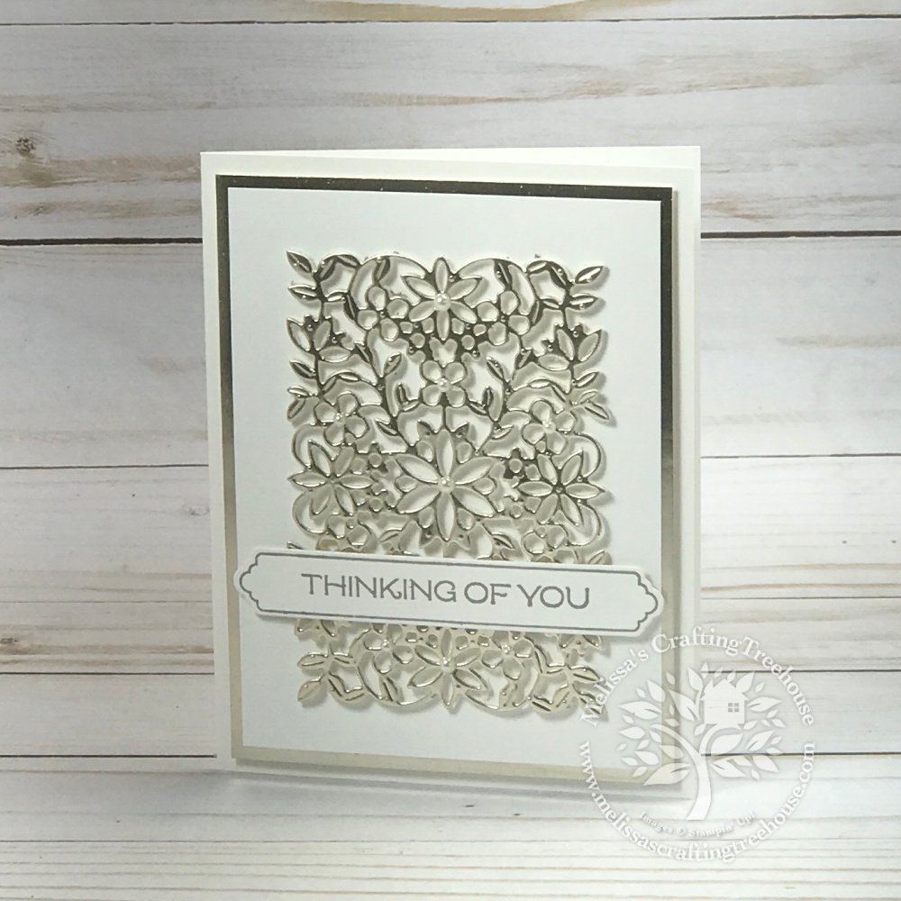 How to take one simple design with the Flowering Vine Dies and make 4 simple variations with two additional techniques and a few foil sheets.