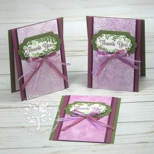 In today's post and video I'll be showing 3 different ways to use embossing folders to highlight the shapes for added interest and dimension.