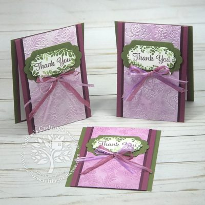 3 Different Ways to use Embossing Folders