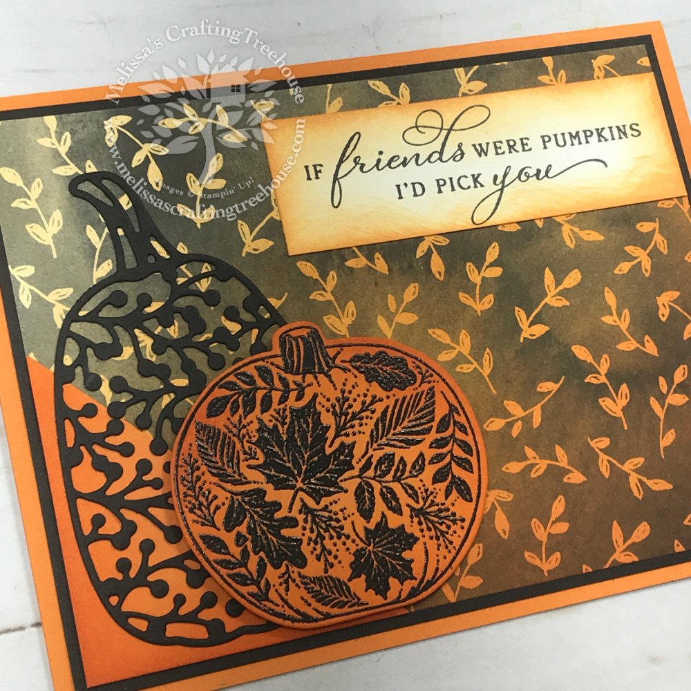 Check out the September 2021 Color Challenge & Blog Hop! I'm featuring the Pretty Pumpkins Bundle & the Beautifully Penned Sale-A-Bration DSP.