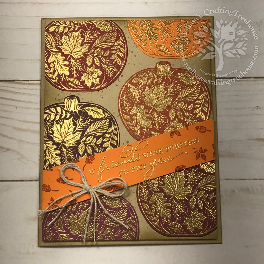 Today's project features the Pretty Pumpkins bundle and was created for the Sept 2021 tutorial bundle which includes several DIY fall cards.