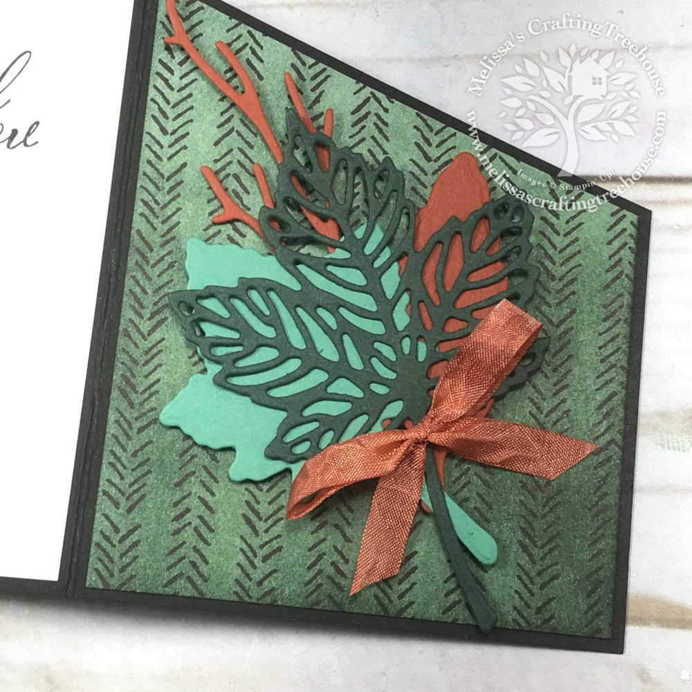 Check out the October 2021 Color Challenge & Blog Hop! My fun fold card features the Intricate Leaves Dies & Pattern Party Designer Paper.