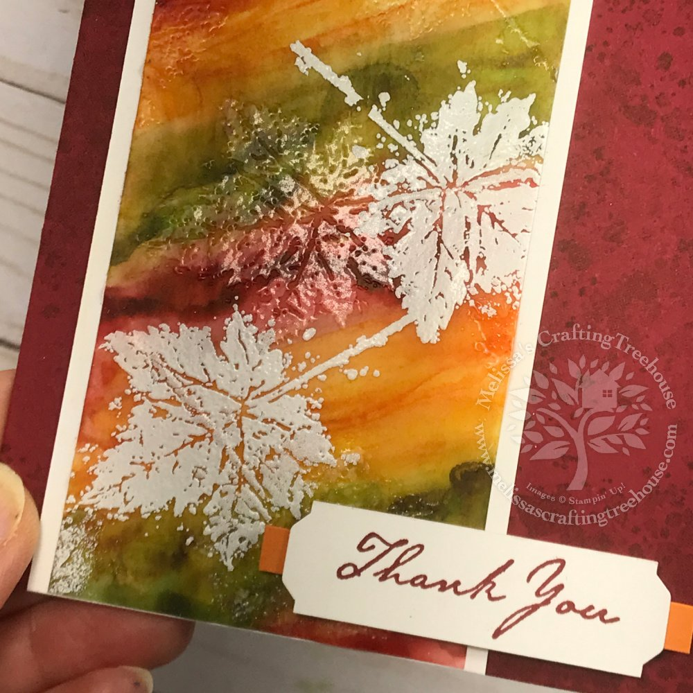 Learn how to make some beautiful backgrounds for card making, using ink and alcohol in various ways with the Gorgeous Leaves Set.