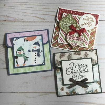 3 Easy Christmas Gift Card Holders